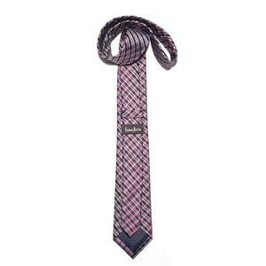 Neiman Marcus Accessories - Neiman Marcus All Silk Plaid Skinny Tie